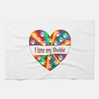 Sheltie Love Tea Towel