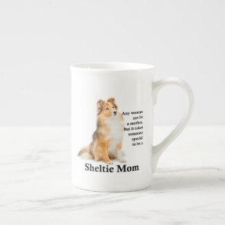 Sheltie Mom Bone China Mug