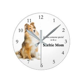 Sheltie Mom Clock