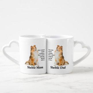 Sheltie Mom/Dad Mug Set