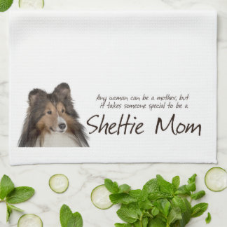 Sheltie Mom Kitchen Towel