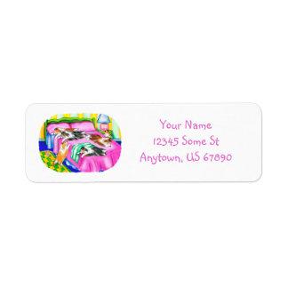 Sheltie Pink Comfort Return Address Label