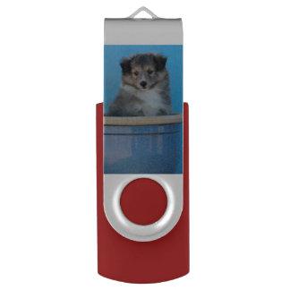 Sheltie Puppies USB Flash Drive