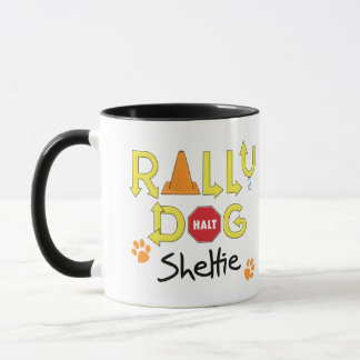 Sheltie Rally Dog Mug