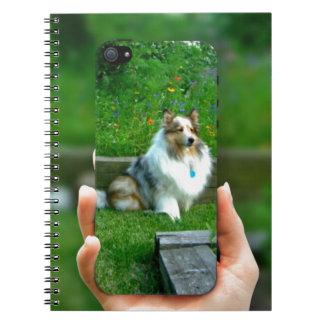 Sheltie Rescued Dog Lover Spiral Note Books