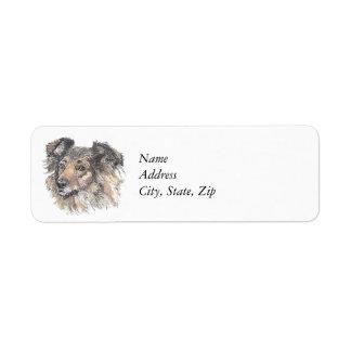 Sheltie Return Address Label