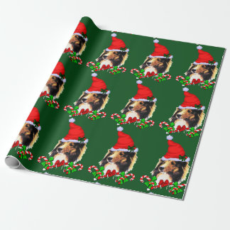 Sheltie Santa Christmas Wrapping Paper