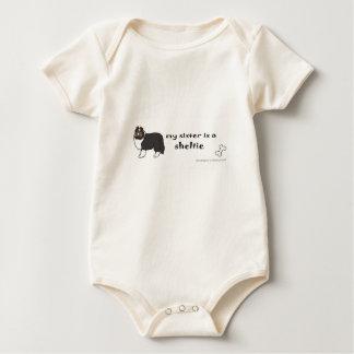 sheltie sister baby bodysuit