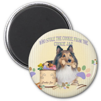 Sheltie Stole The Cookie From The Cookie Jar Magnet