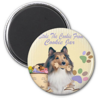 Sheltie Stole The cookie Magnets