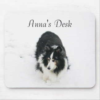 Sheltie Template Mouse Pad