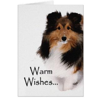 Sheltie Warm Wishes Card