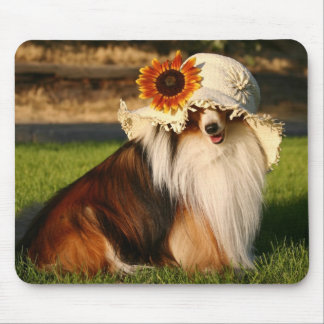 Sheltie with Hat Mouse Pad