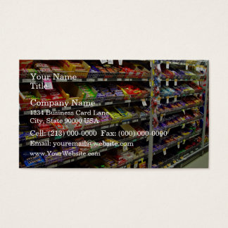 Shelves of chocolate bars in store