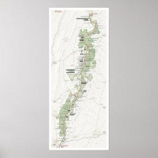 Shenandoah map poster