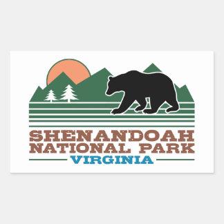 Shenandoah National Park Virginia Rectangular Sticker