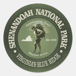 Shenandoah NP Classic Round Sticker