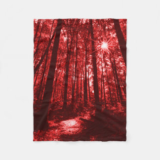 Shenandoah Park Red Fleece Blanket