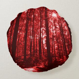 Shenandoah Red Round Cushion