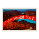Shenandoah Valley Virginia VA Vintage Postcard- Poster