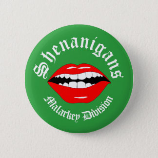 Shenanigans Malarky Division Smart Mouth 6 Cm Round Badge