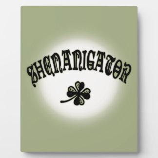 Shenanigator 117 plaque
