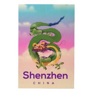 Shenzhen China Dragon travel poster