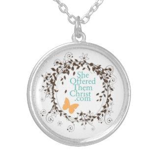 SheOfferedThemChrist Logo Necklace