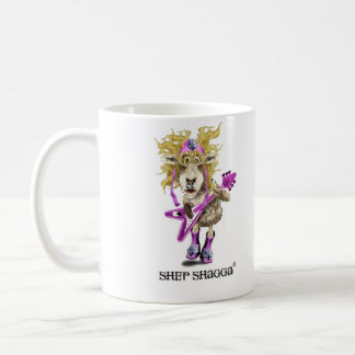 Shep Shagga Rock n Roll sheep Basic White Mug