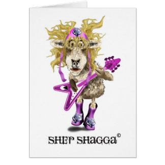 Shep Shagga Rock n Roll sheep Card