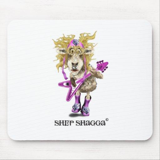 Shep Shagga Rock n Roll sheep Mousepad