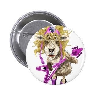 Shep Shagga Rock n Roll sheep Pinback Button