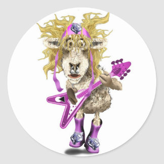 Shep Shagga Rock n Roll sheep Round Sticker