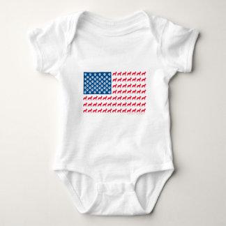 Shepard-Flag Patriotic Baby Bodysuit