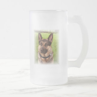 Shepherd Dog Frosted Beer Mug