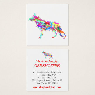 Shepherd Dogs Square Business Card