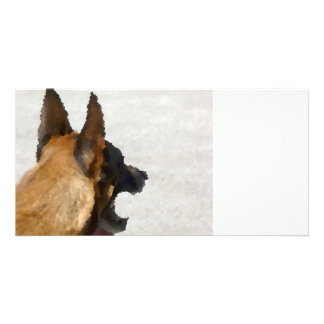 shepherd stained glass head image dog canine personalised photo card
