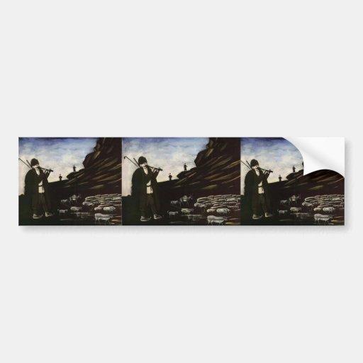 Shepherd with Flock by Niko Pirosmani Bumper Sticker