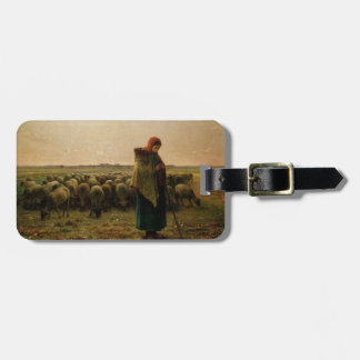Shepherdess with her Flock, 1863 Bag Tag