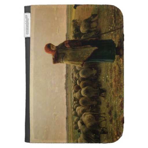 Shepherdess with her Flock, 1863 Kindle 3 Cases