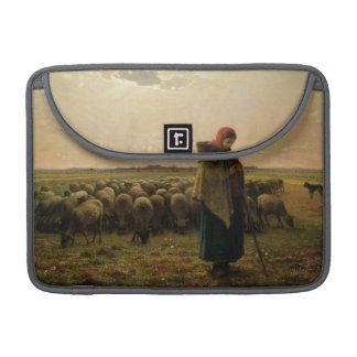 Shepherdess with her Flock, 1863 MacBook Pro Sleeve