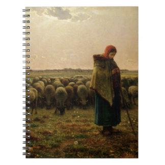 Shepherdess with her Flock, 1863 Spiral Notebooks