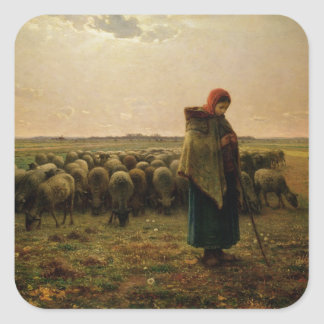 Shepherdess with her Flock, 1863 Stickers