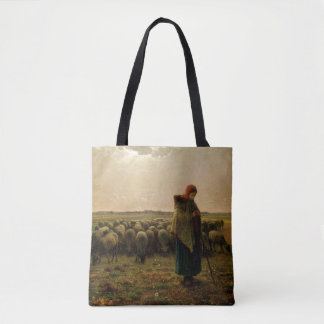 Shepherdess with her Flock, 1863 Tote Bag