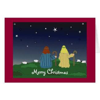 Shepherds Abiding in the Fields Card