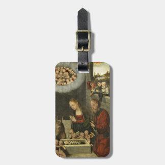 Shepherds Adoring Baby Jesus by Cranach Luggage Tag