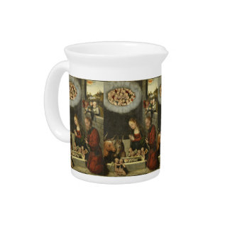 Shepherds Adoring Baby Jesus by Cranach Pitcher