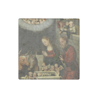 Shepherds Adoring Baby Jesus by Cranach Stone Magnet