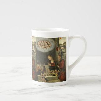 Shepherds Adoring Baby Jesus by Cranach Tea Cup