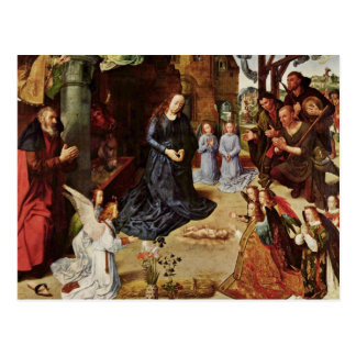 Shepherds and Angels Adore Him Postcard